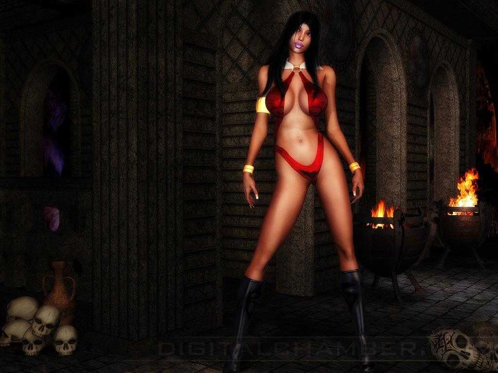 Sexy fantasy women vampire